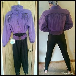Skea- Paris vintage 1980 ski suit one piece!  -6